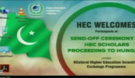 Send off Ceremony to Hungry by HEC Scholars