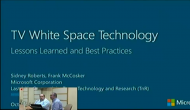 Microsoft online session on TV wide space Technology